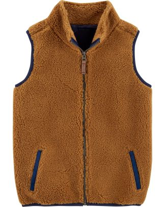 1ef54d9ab Zip-Up Sherpa Vest (size 10 - 12 years ) ...