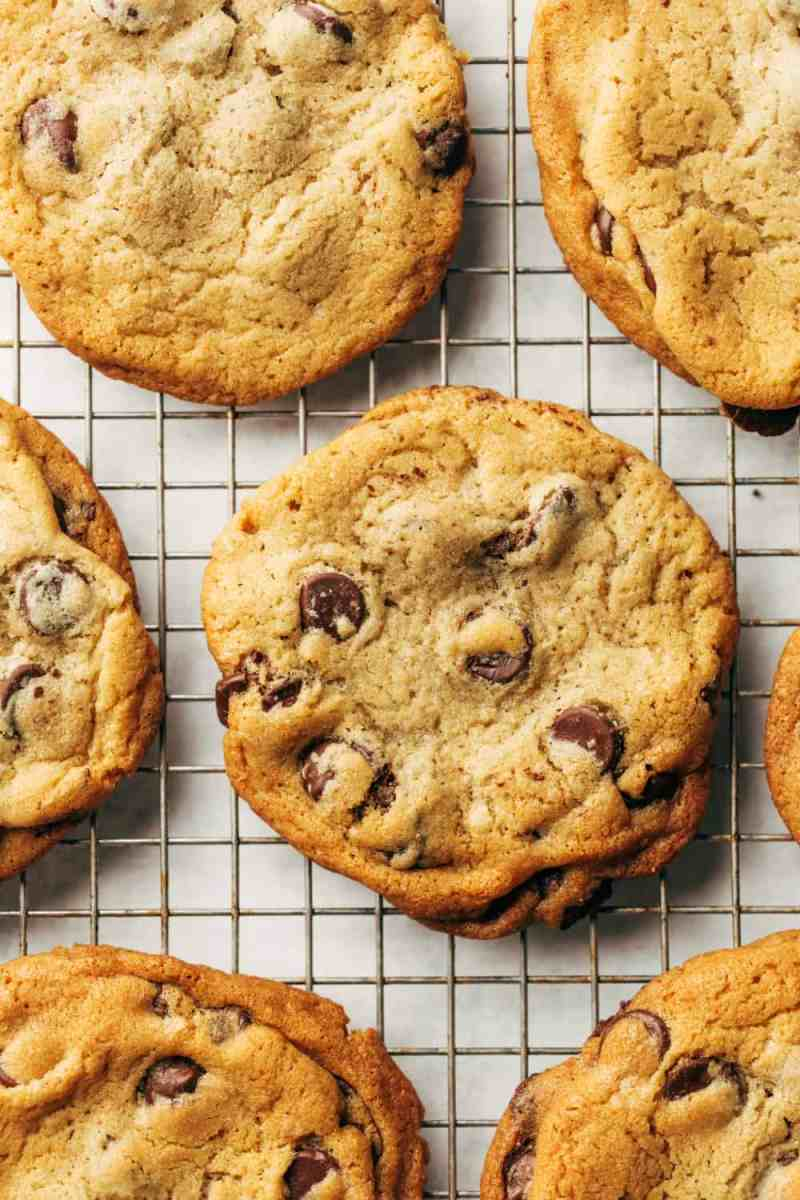 The best, chewiest chocolate chip cookies come from the New York Times chocolate chip cookie recipe.