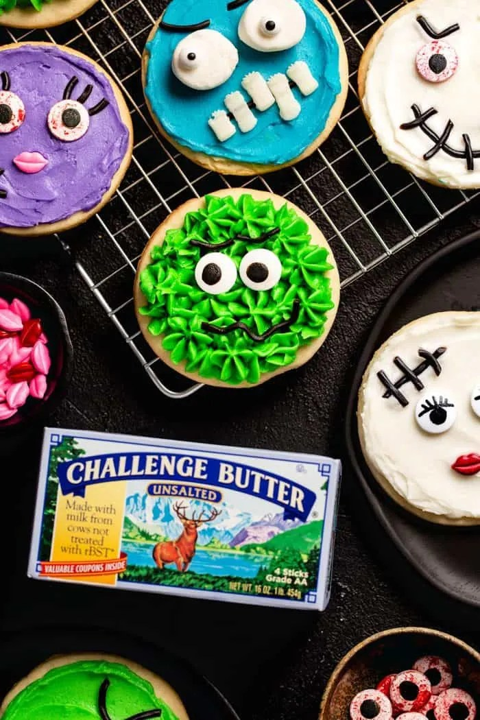 Candy shouldnt have all the … Halloween Monster Decorated Sugar Cookies My Baking Addiction