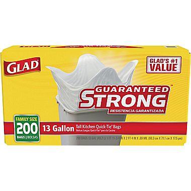 glad kitchen bags ceramic tile 200 ct trash only 12 99 mybargainbuddy com