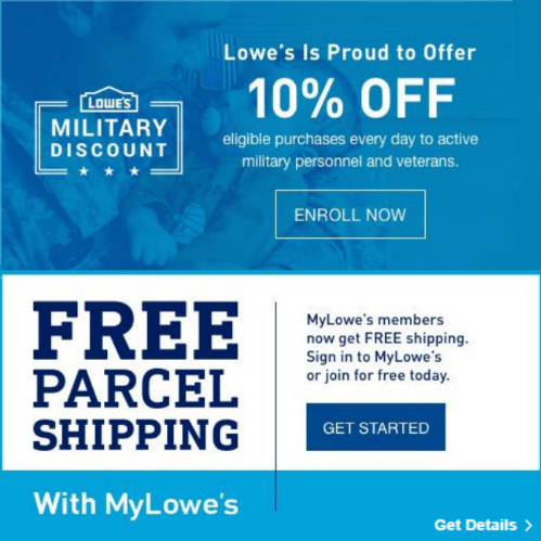 Lowes Military Card