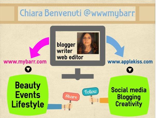 Chiara Benvenuti blogger web editor mybarr Applekiss infografica