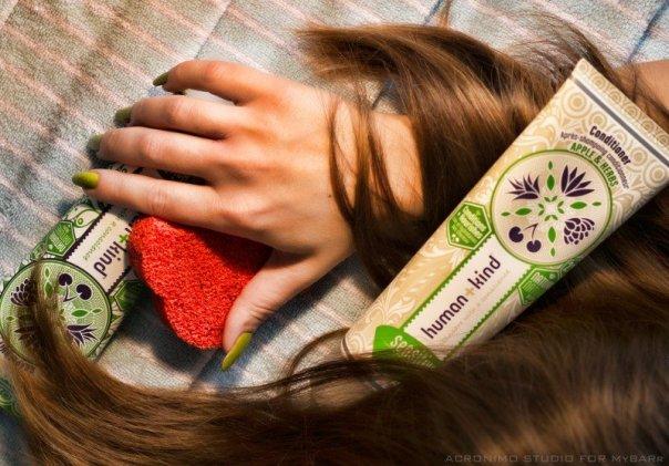 Shampoo+Bodywash Grapefruit and Conditioner Apple&Herbs - Human+Kind