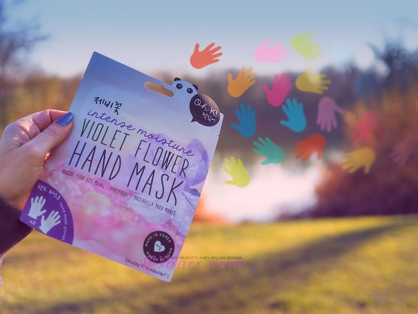 maschera mani Violet Flower Hand Mask maschera coreana oviesse mybarr