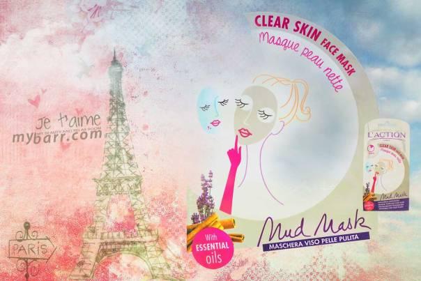 maschera L'action Paris maschera viso pelle pulita - clear skin face mask - mybarr