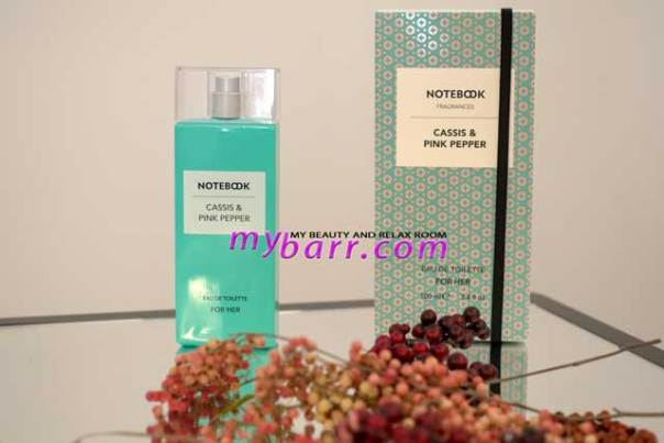 notebook fragrances by selectiva cassis & pink pepper mybarr