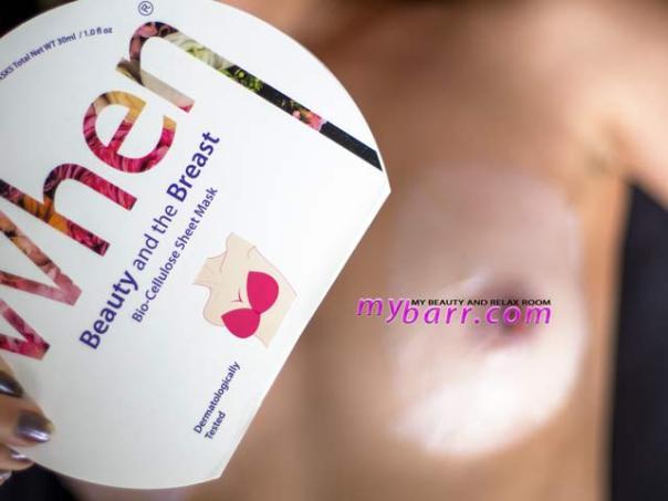 maschera tonificante seno coreana biocellulosa when beauty and the breast