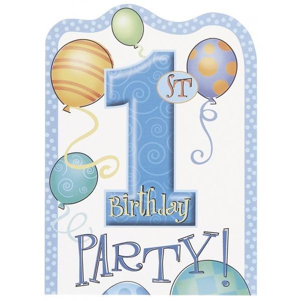carte d invitation pour feter le premier anniversaire garcon ou bebe