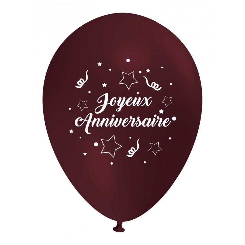 ballon joyeux anniversaire marron dcoration goter danniversaire