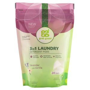Grab Green Naturally-Derived, Plant, And Mineral Based Laundry Detergent Pods, Lavender With Vanilla