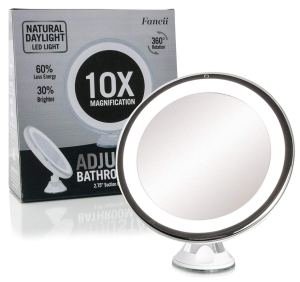 Fancii Daylight LED 10X Magnifying lighted Makeup Mirror