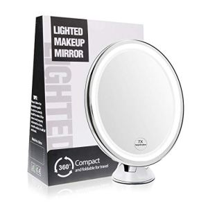 Terresa 7X Ring Light Mirror with Suction Cup