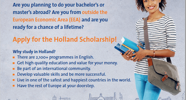 2020/2021 Holland Scholarships To Study Bachelor's Masters in Netherland 45