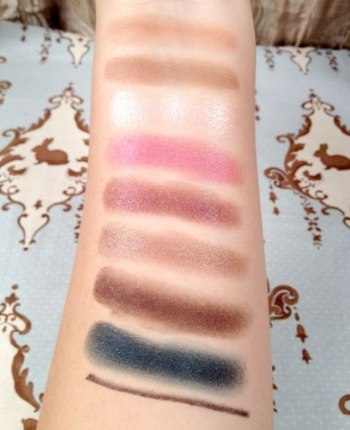 Stila Luxe Eye Shadow Palette Swatches