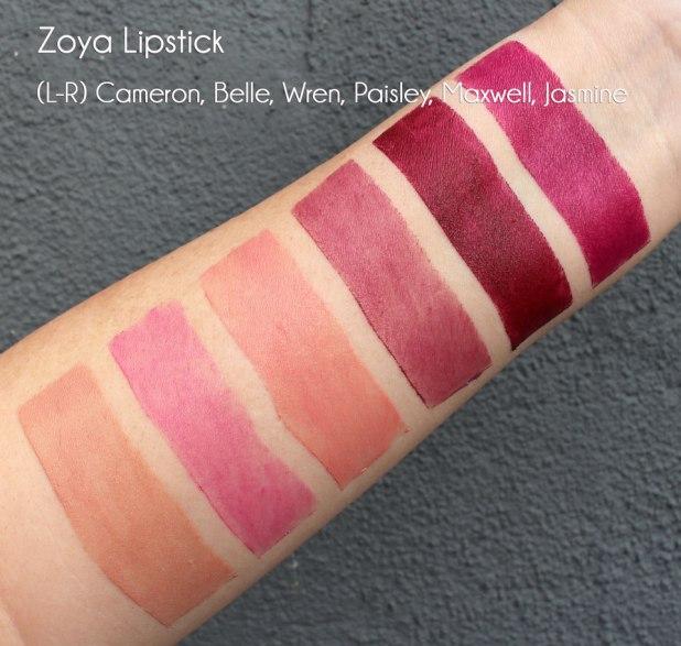 Zoya Lipstick Swatches