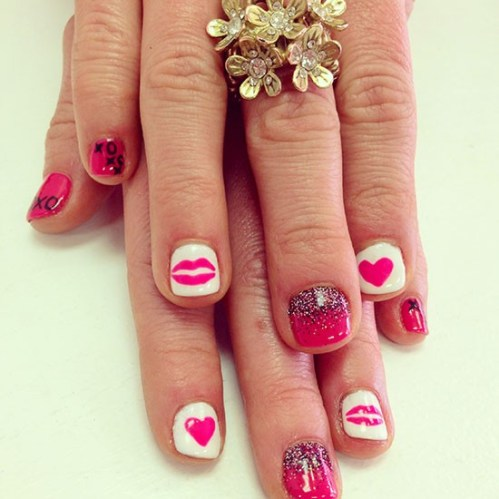 Valentine's Day Mani at Plush Beauty Bar