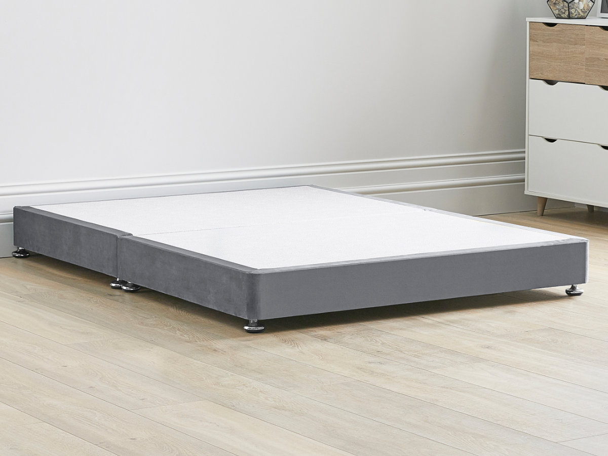 Low 8 Divan Bed Base On Chrome Glides 11 Colours 6 Sizes