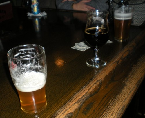 L to R Pliny the Elder, Edgar's Ale and Port's High Tide on Cask