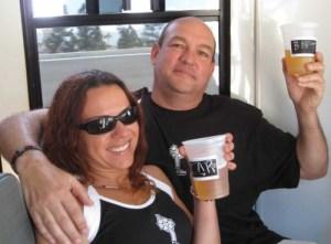Birthday boy Tony and girlfriend, Carmen