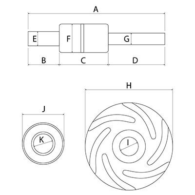 Kit reparatie pompa apa 30/131-2, 3637445M91, 3640323M91