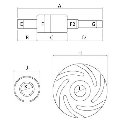Kit reparatie pompa apa 30/131-6, 737095M91, 747965M91