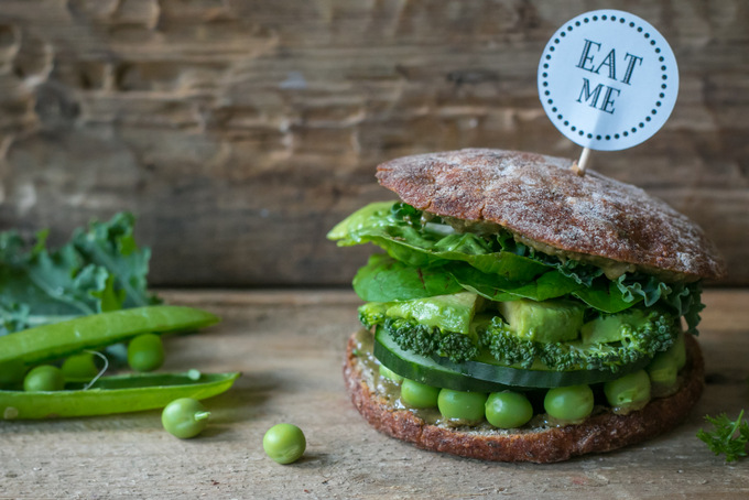 HEALTHY VEGETABLE BURGER – MY HAPPY GREEN MONSTER