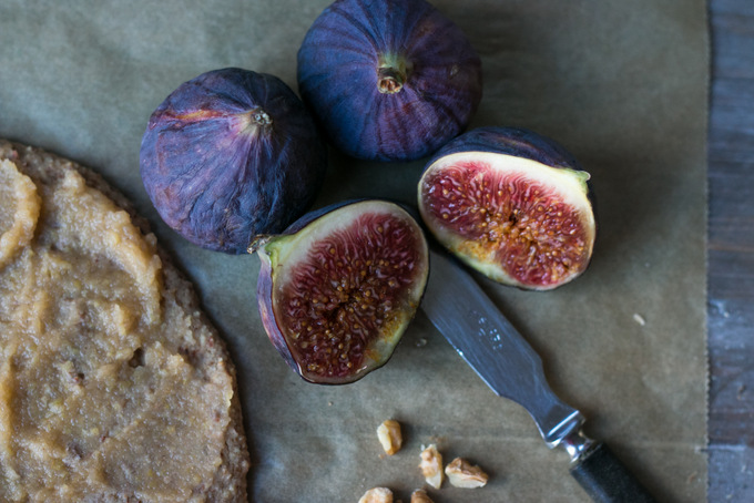 Fig pizza pie with pink whipped coconut cream 3