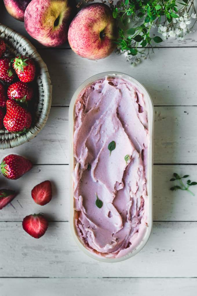 Strawberry cauliflower nice cream, myberryforest.com