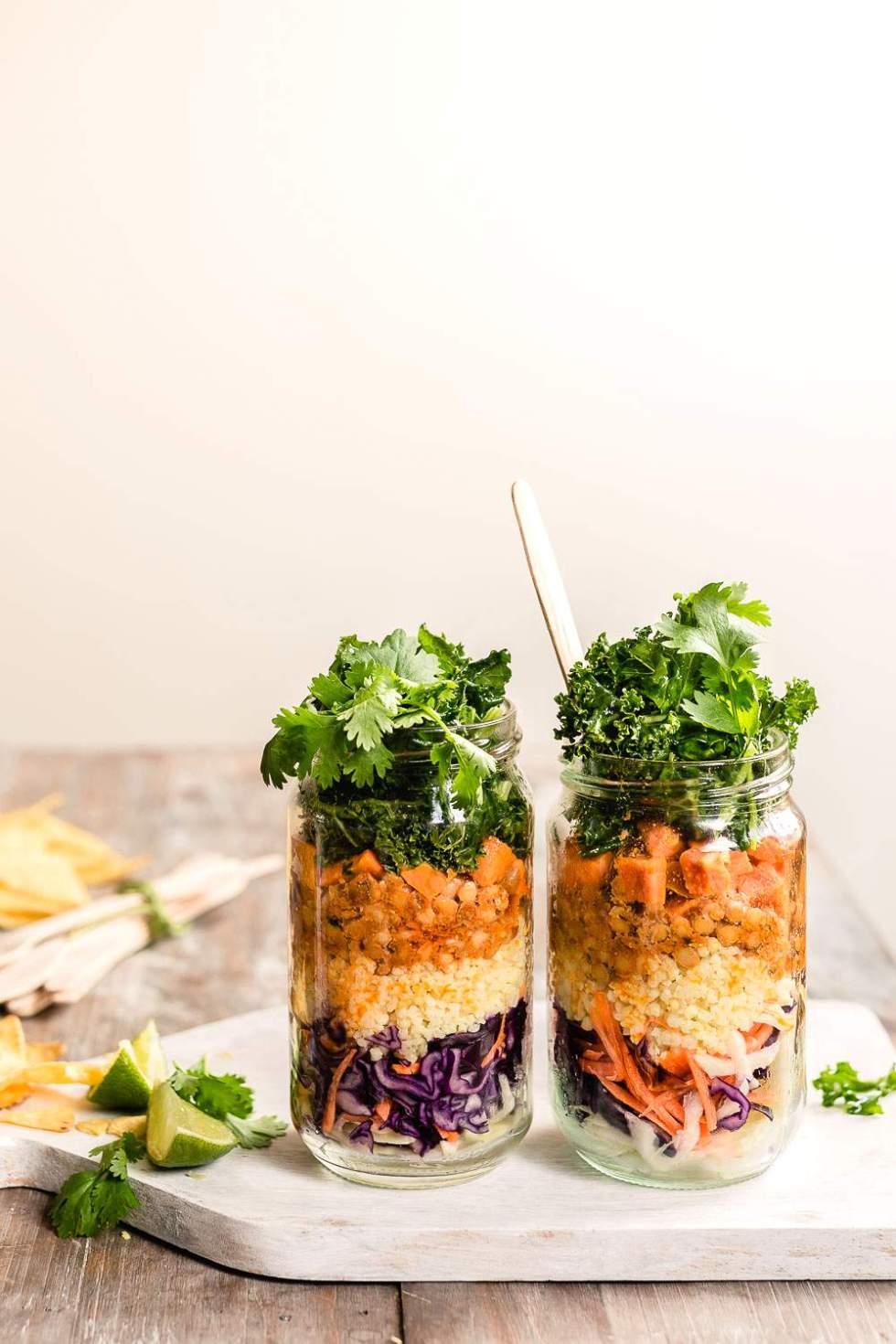 Lemony Lentil Taco Salad (Vegan, gf)