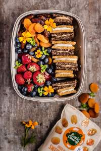 Apricot-lemon and chocolate-nut butter snack bars