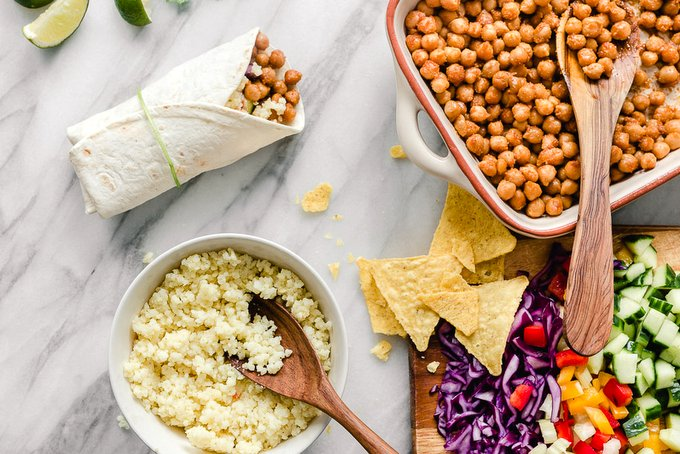 CHICKPEA AND MILLET BURRITOS