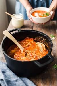 Vegan One Pot Tofu Lasagna Soup