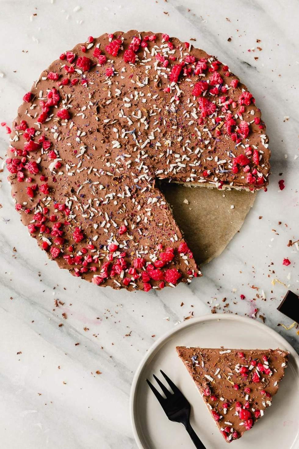 No-bake Vegan Bounty Mousse Tart