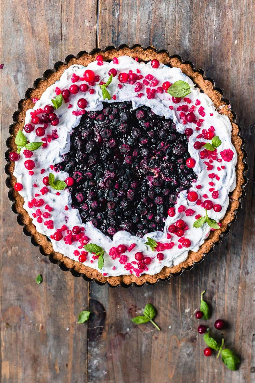 Gluten-free vegan blueberry cardamom pie