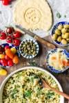 Pick and Mix quinoa pasta salad with almond feta
