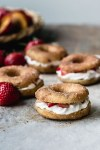 Gluten-free vegan nectarines and cream donuts