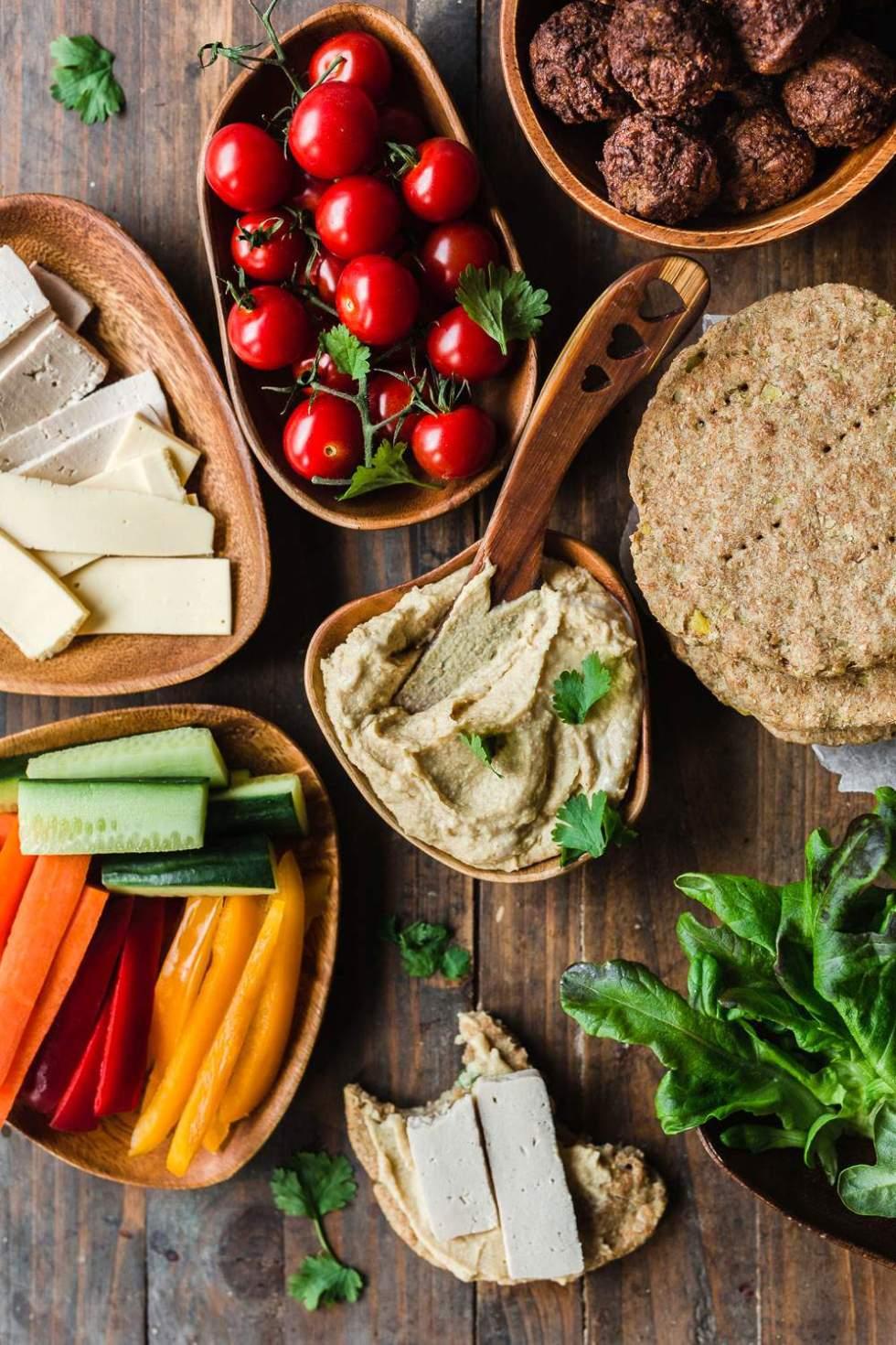 Vegaaninen meal preppaus arkiruoat x 5