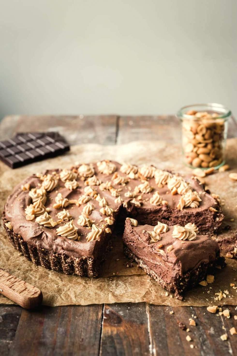 Snickers Tart (vegan, gf)