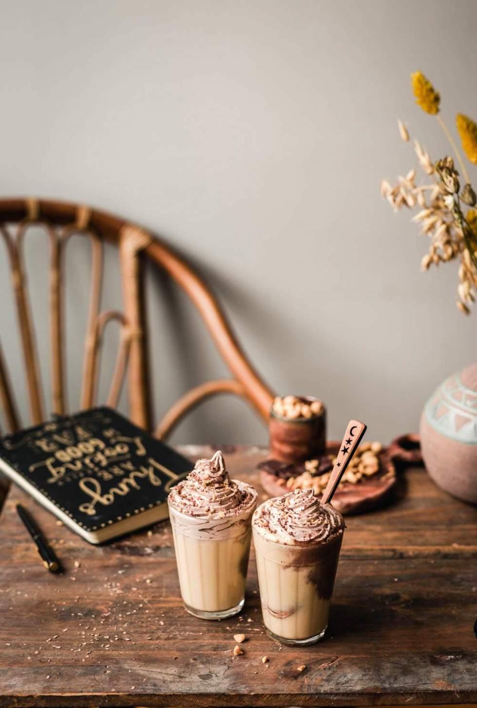 Snickers milkshake for dessert