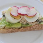 Healthy Snack Tuna Egg Sandwich