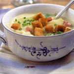 Authentic German Cabbage Soup with Croutons