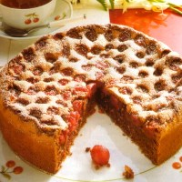 Gluten Free German Cherry Hazelnut Cake