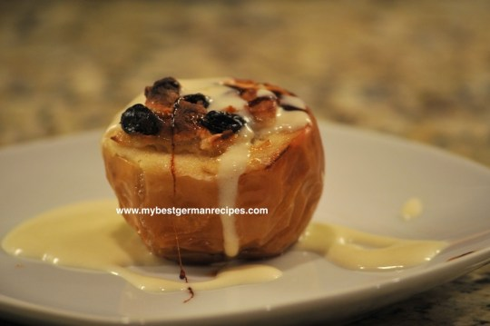 baked apples filled marzipan
