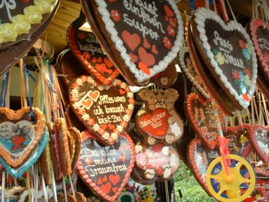 German Lebkuchen Hearts