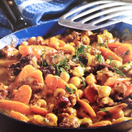 beef with garbanzo beans