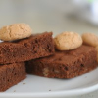 German Marzipan Chocolate Brownie