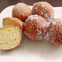 German Sweet Mini Fried Cheese Balls with Quark