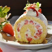 Authentic German Strawberry Cream Roll