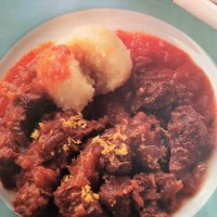 German Beef Onion Stew  - With Potato Dumplings