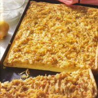German Onion Tart - Onion Cake Zwiebelkuchen of Germany